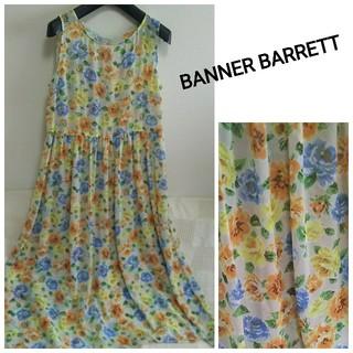 バナーバレット(Banner Barrett)の⭐️BANNER BARRETT⭐️花柄シフォンロングワンピース(ロングワンピース/マキシワンピース)