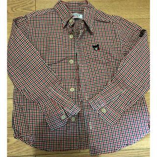 ダブルビー(DOUBLE.B)のミキハウスダブルBチェック柄長袖シャツ110(ブラウス)