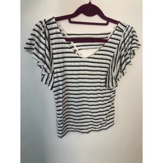 ロイヤルパーティー(ROYAL PARTY)のフリルTシャツ(Tシャツ(半袖/袖なし))