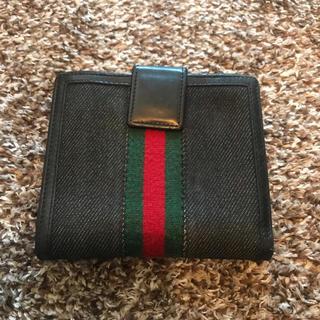Gucci - GUCCI折り財布 シェリーライン黒