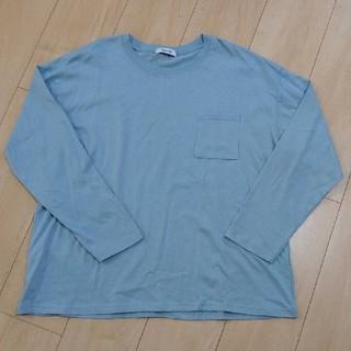 シマムラ(しまむら)の未使用品◆しまむら ロンT カットソー 水色(Tシャツ(長袖/七分))