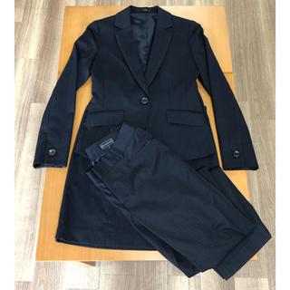 スーツカンパニー(THE SUIT COMPANY)のネイビー  ウォッシャブル スーツ 3点セット(スーツ)