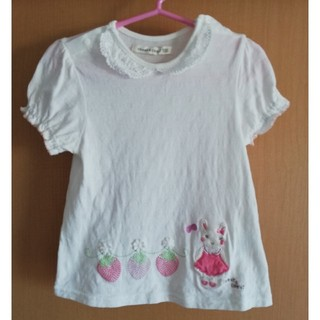 coeur a coeur - クーラクール Tシャツ 白 100サイズ USED