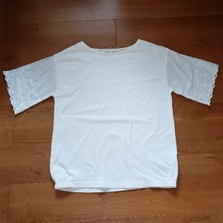スタディオクリップ(STUDIO CLIP)のスタジオクリップ カットワークレース袖 カットソー Tシャツ(Tシャツ(半袖/袖なし))