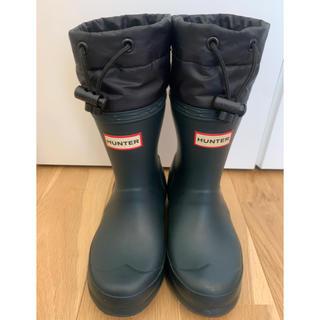 ハンター(HUNTER)のりんちゃん様専用 HUNTER フード付き長靴 UK9サイズ  約16.5cm(長靴/レインシューズ)