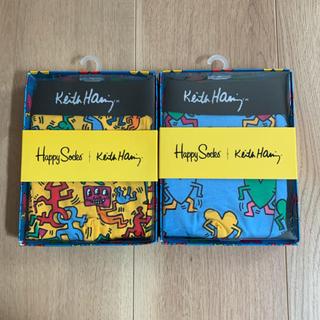 【新品】Happy Socks キースヘリング ボクサーパンツ 2枚セット(ボクサーパンツ)