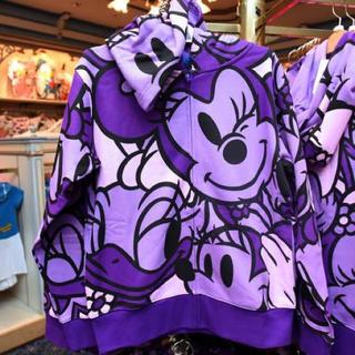 ディズニーランド パーカー 紫 M