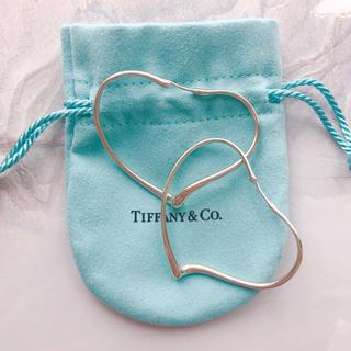 Tiffany & Co. - ティファニー オープンハートフープ ピアス