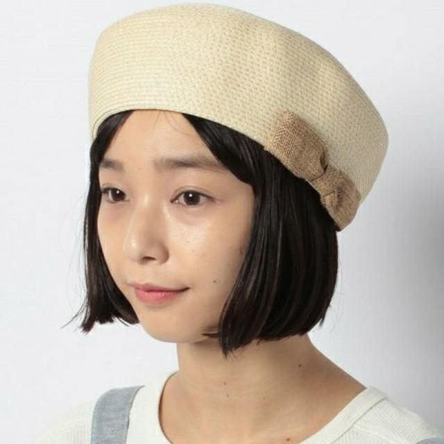 SM2(サマンサモスモス)のSM2 リボン付 細ブレードベレー レディースの帽子(ハンチング/ベレー帽)の商品写真