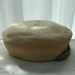 サマンサモスモス(SM2)のSM2 リボン付 細ブレードベレー(ハンチング/ベレー帽)