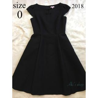 TOCCA - 美品 TOCCA LONG ISLAND ドレス 0 黒 ランドリーライン