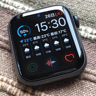 アップルウォッチ(Apple Watch)の(再出品)Apple Watch 5 44mm GPS 極美品(スマートフォン本体)