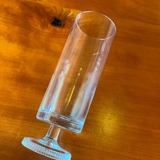 トウヨウササキガラス(東洋佐々木ガラス)のアデリア 脚付きグラスクリア ヴィンテージ アンティーク品 デッドストック(グラス/カップ)