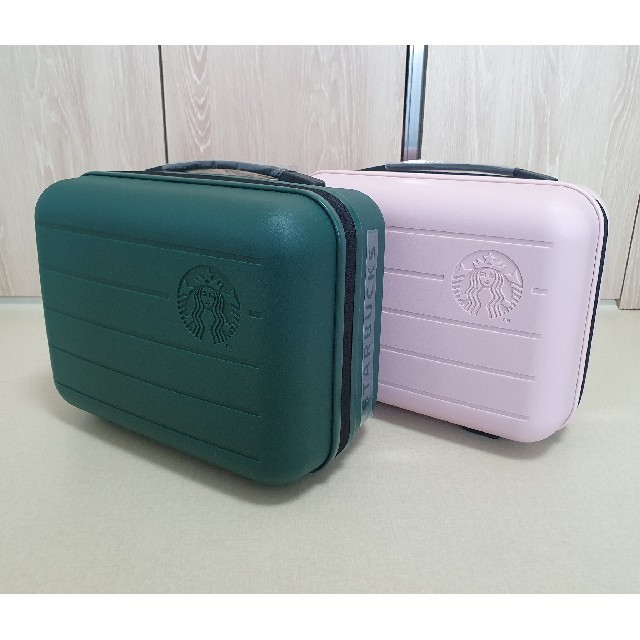 Starbucks Coffee(スターバックスコーヒー)の韓国スタバ★ サマーレディバッグ・ピンク&グリーン レディースのバッグ(スーツケース/キャリーバッグ)の商品写真