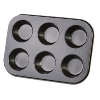 【新品】マフィン型 ブラック 6個(調理道具/製菓道具)