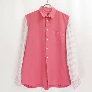 コムデギャルソン(COMME des GARCONS)の90s コムデギャルソン SHIRT 縮絨 製品染め ドッキング シャツ (シャツ)
