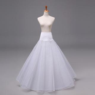 花嫁ドレス 1本ワイヤー ボリューム 2層チュール 結婚式 パニエ Aライン(ウェディングドレス)