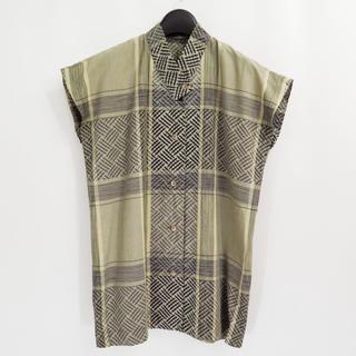 イッセイミヤケ(ISSEY MIYAKE)の70s - 80s イッセイミヤケ アフガン エスニック ブラウス シャツ(シャツ/ブラウス(半袖/袖なし))