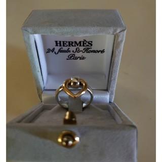 Hermes - エルメス HERMES ハート リング SV925 750YG K18 箱付き