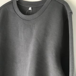 MUJI (無印良品) - 無印良品 綿混二重編み 長袖プルオーバータグ付き