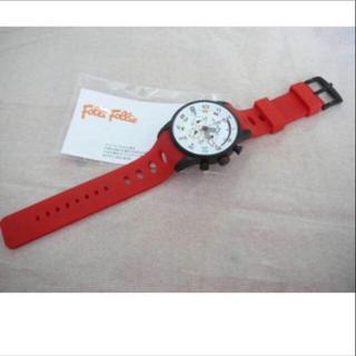 フォリフォリ FOLLI FOLLIE 腕時計 赤ユニセックスデザイン