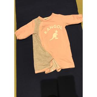 カンゴール(KANGOL)の【ベビー服♡50-60】カンゴール ピンク 新生児(ロンパース)