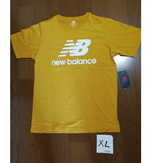 ニューバランス(New Balance)の20春夏モデル‼️new balanceサイズXL ロゴT マスタードXL未使用(Tシャツ/カットソー(半袖/袖なし))
