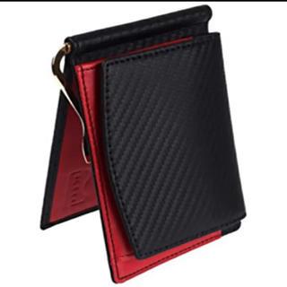 マネークリップ メンズ 小銭入付 財布 二つ折り 本革 レザー カードケース(折り財布)