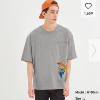 GU ポケモンビッグ5分袖Tシャツ リザードン サイズL