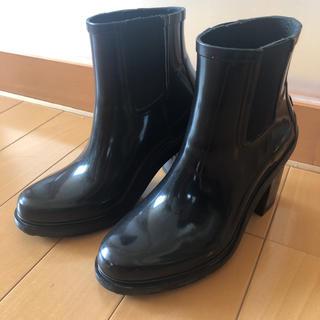 ハンター(HUNTER)のハンター レインブーツ 長靴 黒 サイドゴアハーフブーツ(レインブーツ/長靴)