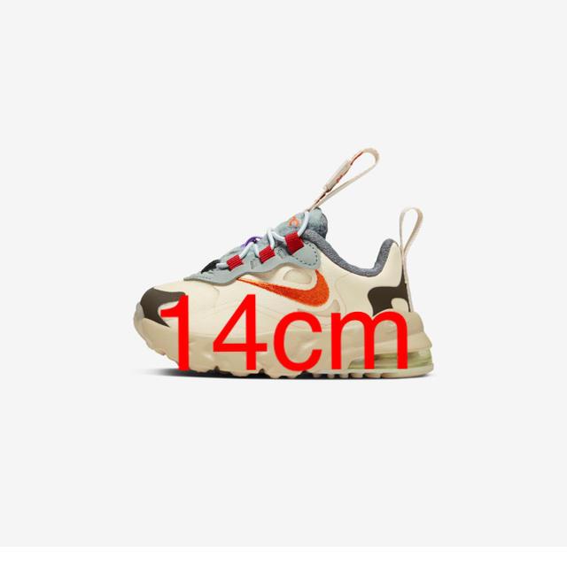 NIKE(ナイキ)のNIKE× TRAVIS SCOTT AIRMAX270 REACT kids キッズ/ベビー/マタニティのベビー靴/シューズ(~14cm)(スニーカー)の商品写真