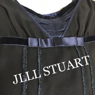 ジルスチュアート(JILLSTUART)のJLLL STUART シルクリボン付ワンピース ❤︎美品❤︎(ひざ丈ワンピース)