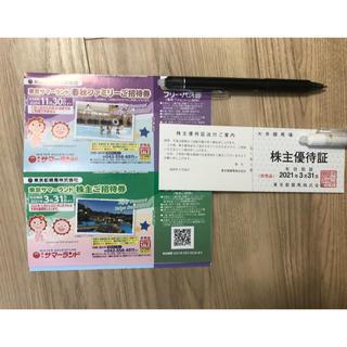 東京都競馬 株主優待券セット (東京サマーランド)(遊園地/テーマパーク)