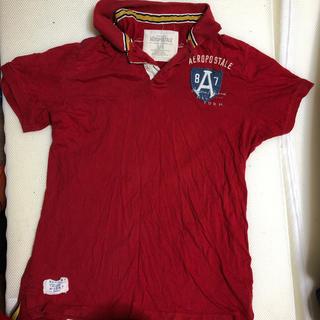 エアロポステール(AEROPOSTALE)のAEROPOSTAL  メンズポロシャツLサイズ 赤色 used(ポロシャツ)