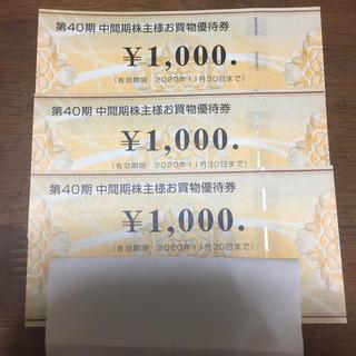 ビックカメラ株主優待券3000円分