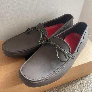 ハンター(HUNTER)のHUNTER  ハンター ドライビングシューズ UK6  茶色 モカシン リボン(レインブーツ/長靴)