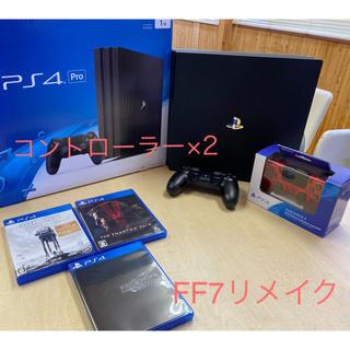 PlayStation4 - PS4 PRO 1TB CHU-7000、FF7、コントローラー付き