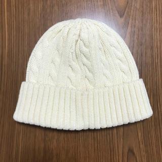 ニット帽 白(ニット帽/ビーニー)