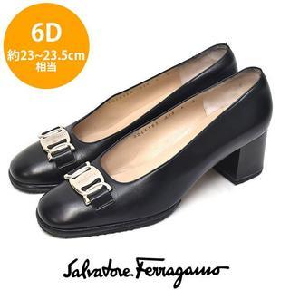 Salvatore Ferragamo - 美品❤サルヴァトーレフェラガモ ロゴバックル パンプス 6D(約23-23.5