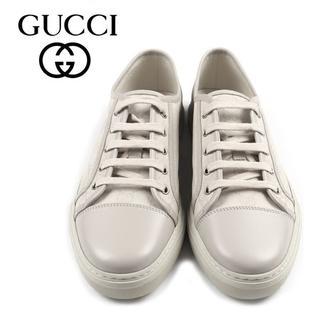 Gucci - 07 GUCCI GGキャンバス スニーカー ホワイト size 8.5