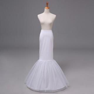 マーメイド ドレス 花嫁定番 1本ワイヤー ボリューム 1層チュール パニエ(ウェディングドレス)