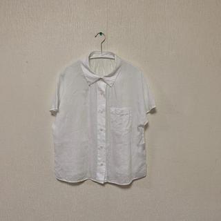 マーガレットハウエル(MARGARET HOWELL)のマーガレットハウエル リネンシャツ サイズ2(シャツ/ブラウス(半袖/袖なし))