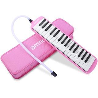 鍵盤ハーモニカ 32鍵 ピアノスタイル マウスピースクリーニングクロスキャリーケ(キーボード/シンセサイザー)