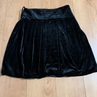 スモーク(Smork)のSmork by diva ハイウェストベロアミニスカート ブラック(ミニスカート)