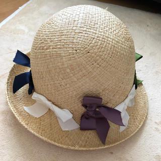 CA4LA - イタリア製 リボンいっぱい 麦わら帽子