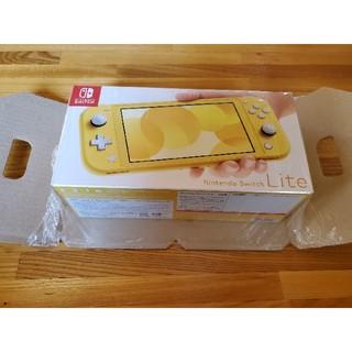ニンテンドースイッチ(Nintendo Switch)のNintendo Switch lite☆イエロー新品未使用☆(携帯用ゲーム機本体)