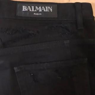 バルマン(BALMAIN)のBALMAIN  黒ダメージデニム 未使用品(デニム/ジーンズ)
