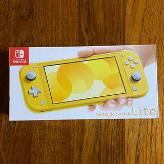 ニンテンドースイッチ(Nintendo Switch)の新品未開封 Nintendo Switch Lite 本体 イエロー(携帯用ゲーム機本体)