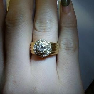 K18ダイヤリング K18   Ptプラチナ リング K18  ダイヤモンド