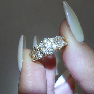 1カラット!K18ダイヤリング K18 プラチナリング ダイヤモンド